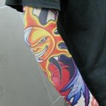 Sun Pattern Tattoo Arm Warmer Sleeves