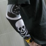Pirate Skull Head Pattern Tattoo Arm Warmer Sleeves