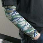 Camouflage Pattern Tattoo Arm Warmer Sleeves