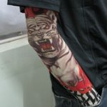 White Tiger Pattern Tattoo Arm Warmer Sleeves