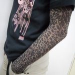 Leopard Print Pattern Fake Tattoo Arm Warmer Sleeves