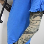 Wing And Woman Pattern Fake Tattoo Arm Warmer Sleeves