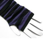 Striped Purple Black Arm Warmers Warm Fingerless Gloves