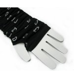 Lovely Pattern White Black Warm Fingerless Gloves