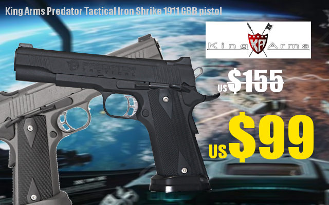 Target Deals !!King Arms Predator Tactical Iron Strike GBB Pistol US$99 20171101promo-eng