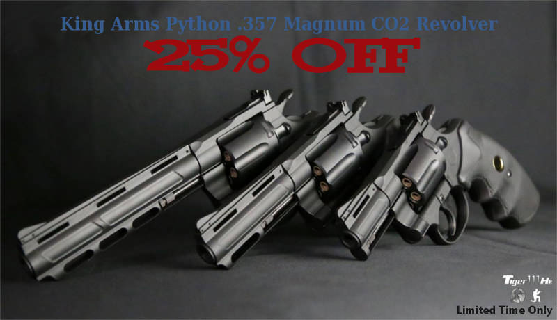 King Arms Python .357 Revolvers 25% Off KA-PG-01_25Off_EN