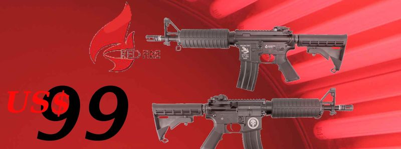 US$99/pc Red Fire M4CQB;30%off to King Arms SVD Sniper Rifle Refire-m4-us$99
