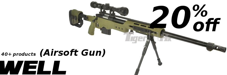 Selected WEll Airsoft Gun 20%off for you .