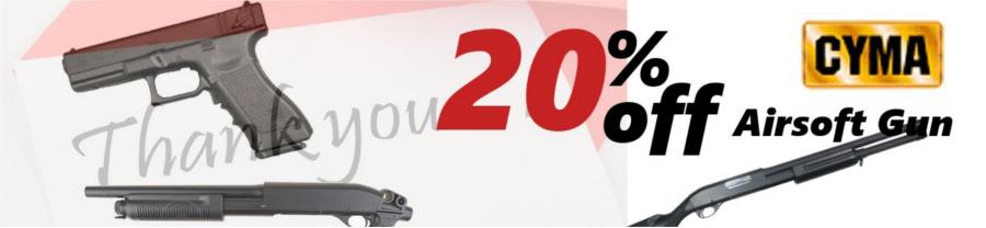 20% off CYMA Airsoft Gun Cyma-20off-airsoft-gun-en