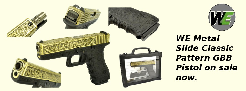 WE Metal Slide Classic Pattern GBB Pistol on sale now.