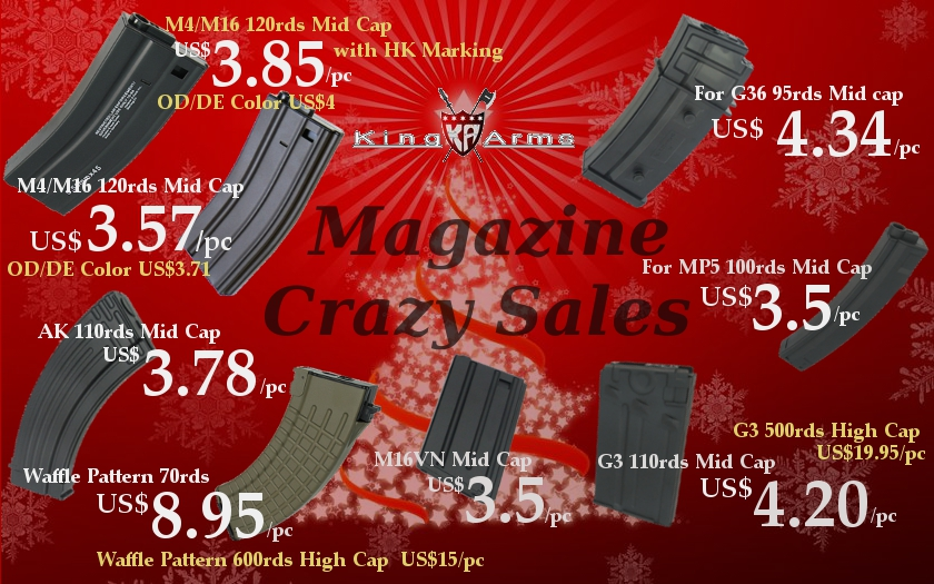 King Arms Xmas Magazine Crazy Sales