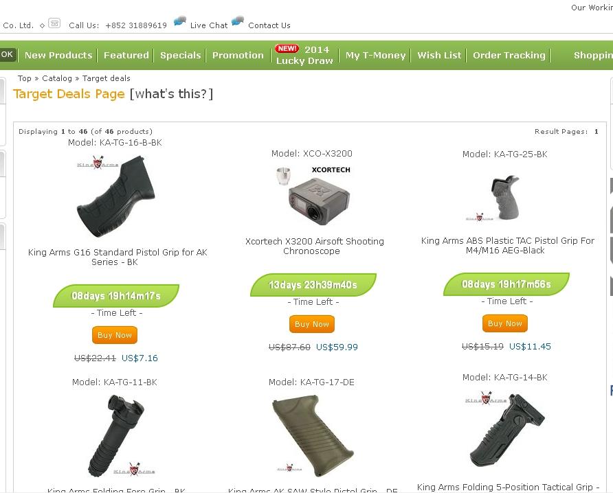 20%off SRC Pistol in Easter;Target Deals Start;X3300W takePre-order;UMAREX HK417 Target_deals1