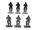ARMY FORCE Aluminum Modified Silhouette Target (6pcs Set)