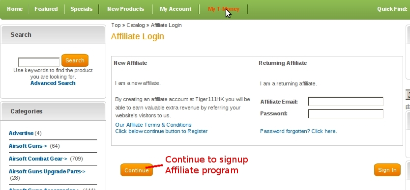 affiliate program page 1