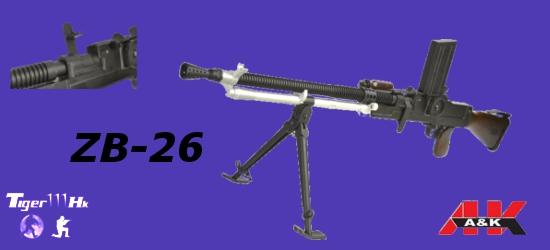 WE 888C;A&K M4A1;A&K ZB-26;King Arms SVD Air cocking/EBB Sniper Rifle  A&K-AEG-ZB-26-1