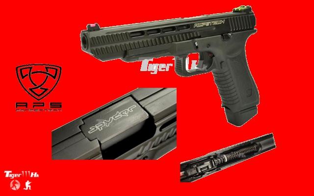 G&P M4 CQBR;S&T Beretta ARX-160;APS Pistol (ACP)CO2 Match Ver APS-ACP606-BK