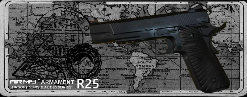 """ARMY R25 """"Protector"""" GBB Pistol ARMY-R25"""