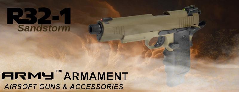 Army Armament R32 GBB pistol ARMY-R32-1-BK