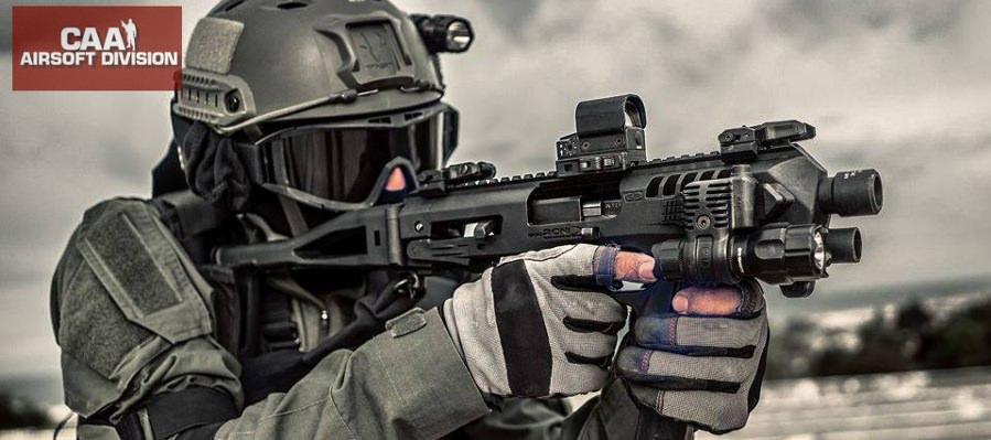 CAA Micro RONI Pistol Carbine Kit G17,G18C G19, 23, 25, 32 GBB