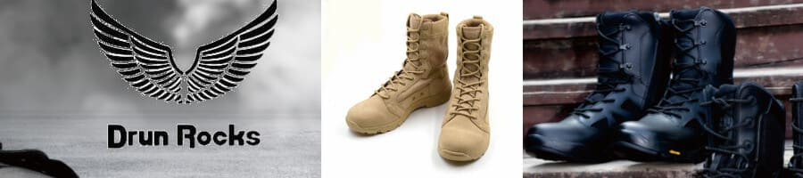 Drun Rocks has about 10 series of Military Boots with different characteristics