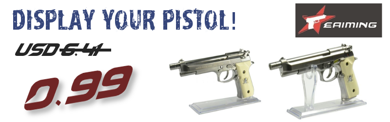 EAIMING PISTOL DISPLAY STAND 0.99USD