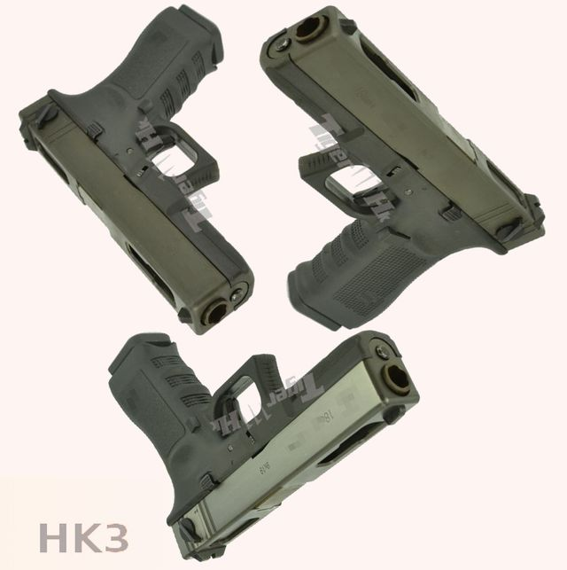 ASP Metal MK14 EBR Mod 0 Enhanced Battle Rifle AEG & HK3 Steel Slide G18C GBB Pistol HK3-GBB-G18C03