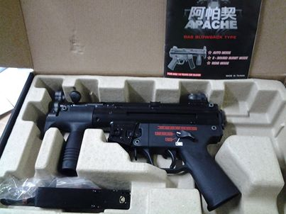 Weekend Promo KSC;New Arrival WE Metal M5K SMG GBB;LS GBB Pistol WE-GBB-APACHE-BK