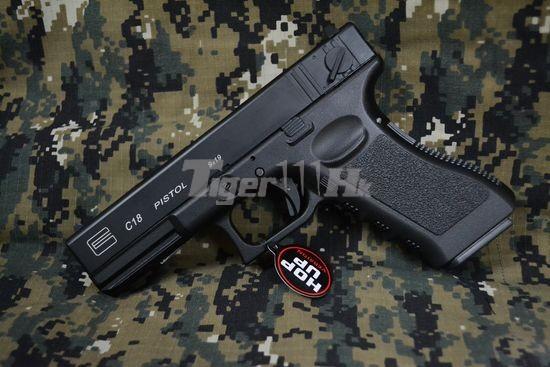 Gas G18c Metal Slide Fully Semi Auto Gbb Pistol Airsoft Tiger111hk Area