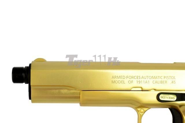 Tokyo Marui M9A1 Pistol;Socom Gear Pro Training 1911 Pistol;Socom Gear 24k 911 Pistol SOCOM-GBB-GOLD1911-6