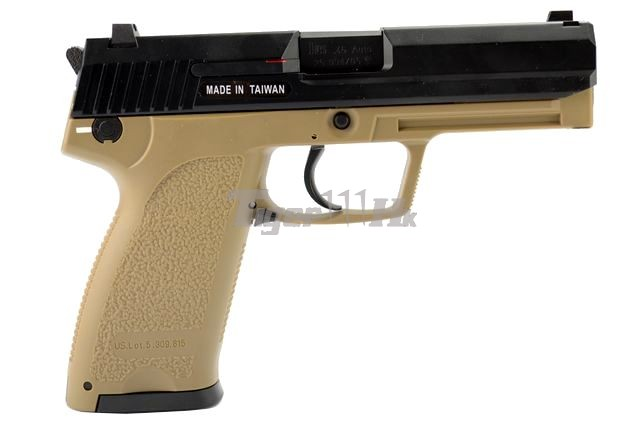 VFC APO ASW338LM Bolt Action Gun;KSC H&K USP .45 GBB;KSC M93RII GBB KSC-GBB-USP.45-TAN-2