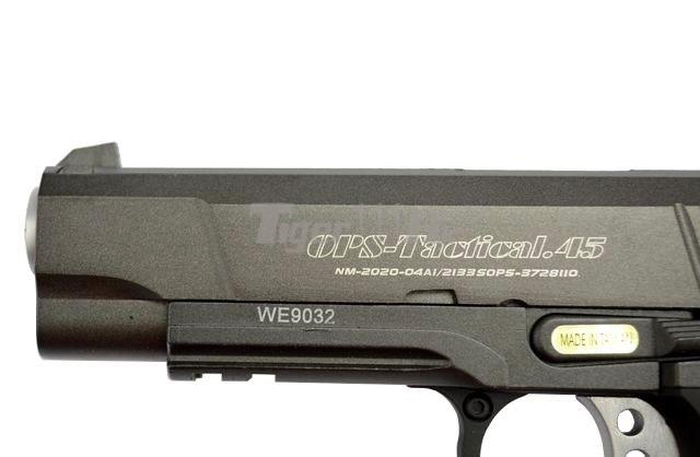 [WE] XDM .45 Compact 3.8 GBB Pistol (Black)(Tan); Hi-Capa 4.3 OPS Tactical GBB Pistol WE-GBB-4.3-NEW-BK-WM-6