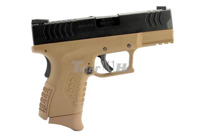 [WE] XDM .45 Compact 3.8 GBB Pistol (Black)(Tan); Hi-Capa 4.3 OPS Tactical GBB Pistol WE-GBB-XDM-3.8-TAN-2