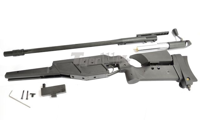 King Arms R93 LRS1 Rifle! MADBULL Launcher Adapter! EC M4 Mag! KA-AG-87-BK-15