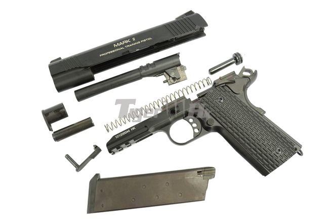 Kwa Metal M1911 Ptp Mark Ii Gbb Pistol 2x Magazine Ver