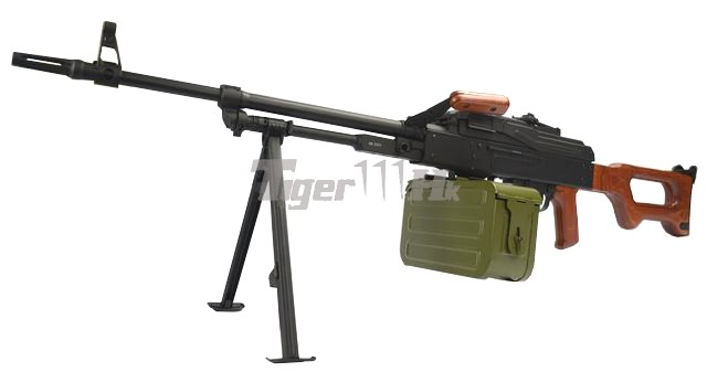 WE SMG-8 GBB ; A&K PKM Real Wood AEG ; WE BULLDOG Px4 GBB A&K-AEG-PKM-WD-1