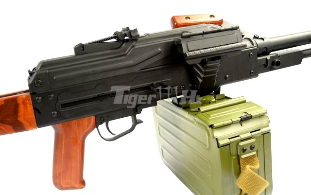 WE SMG-8 GBB ; A&K PKM Real Wood AEG ; WE BULLDOG Px4 GBB A&K-AEG-PKM-WD-11