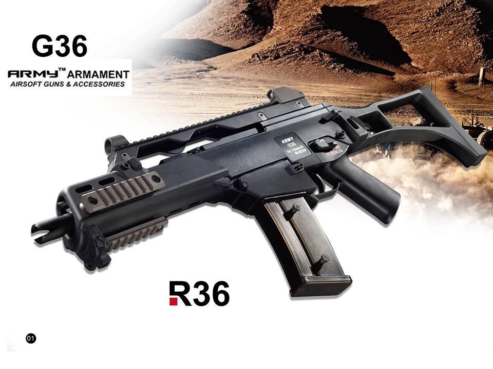 Army R36 Coming soon;Umarex HK417;APS CAM870SF R36