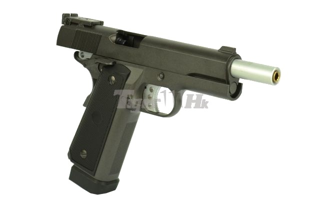WELL Metal Double-stack 1911 CO2 GBB Pistol (Black