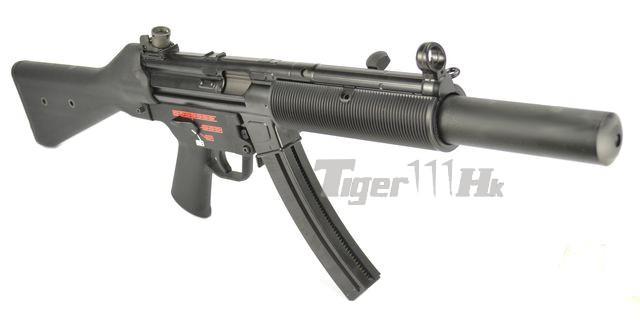 we stamped steel frame apache sd1 sub machine gun gbb black