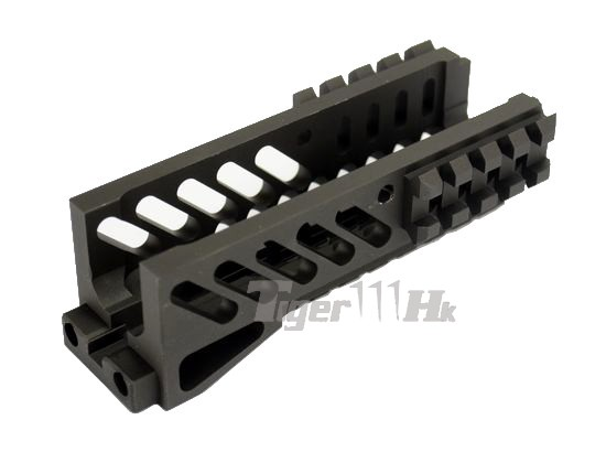 core 128mm tactical rail handguard for ak aeg gbb rifle. Black Bedroom Furniture Sets. Home Design Ideas