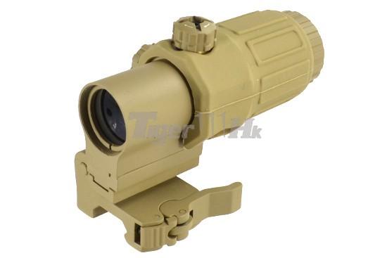 Aimo Quick Detach G33 Sts 3x Magnifier Dark Earth