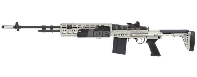 G&G M14 EBR Long Version AEG Rifle (Silver) Airsoft ... M14 Ebr Silver