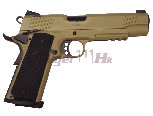 ARMY Kimber Warrior R28 METAL Airsoft GBB Pistol (Tan) with R-Type Magazine.
