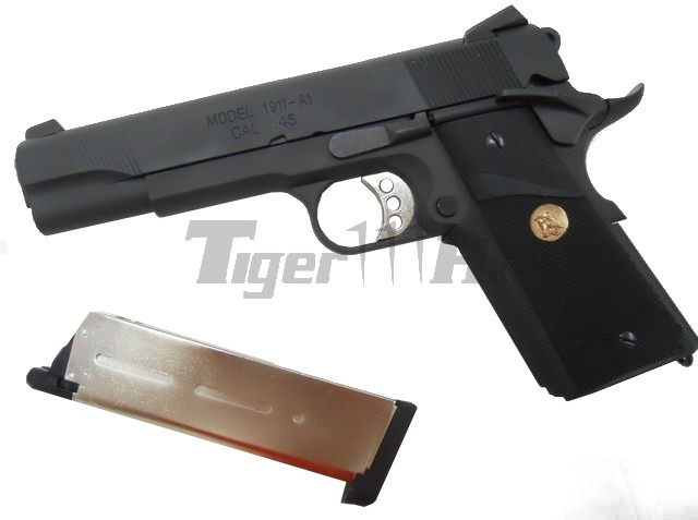 ARMY M.E.U. Full METAL w/ Silver Barrel (R27 M1911 Series)