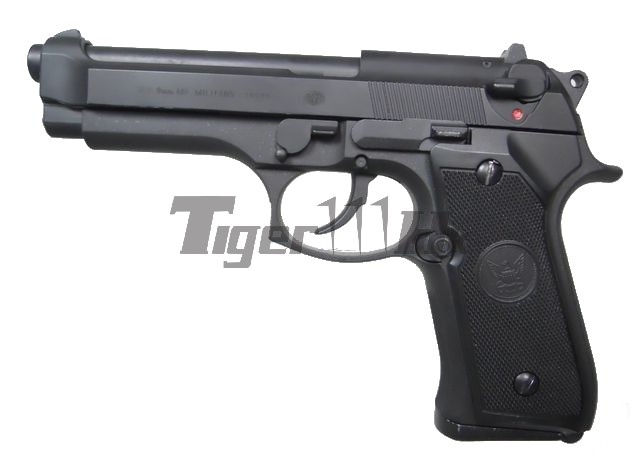 GAS M92F Aluminum Metal Silde GBB Pistol (BK)