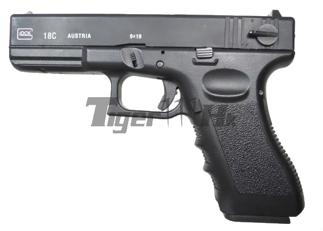 GAS GLOCK 18C Metal Slide Fully/Semi Auto GBB Pistol (GC18)