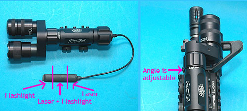 G&P Scorpion Series Aiming Laser with Flashlight (Green Dot)