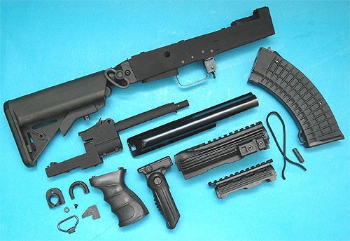 G&P AK Tactical Conversion Kit (Extended Battery Stock)(Black)