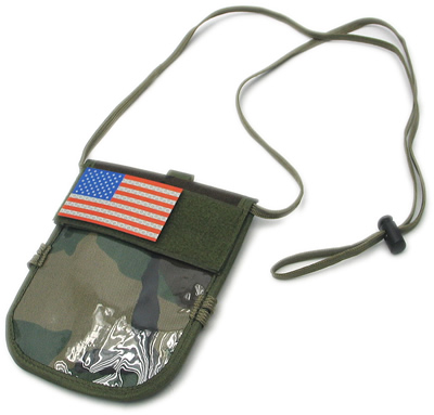 King Arms  ID-Badge Neck Wallet with IFF Flag - Color