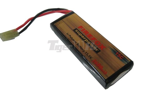 FireFox 11.1V 1600mAh  Li-Polymer Lithium 15C battery(100mm)